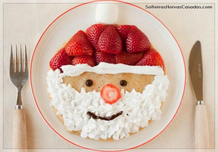 DIY Papai Noel de frutas