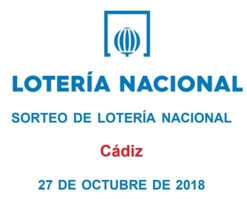 sorteo loteria nacional sabado 27 octubre desde cadiz