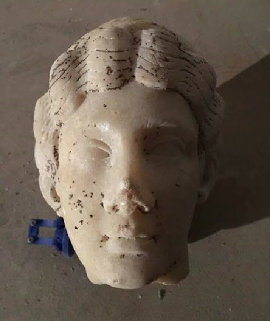 Roman statue of Diana unearthed at Terracina in central Italy