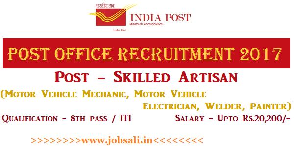 India Post Recruitment 2017, Postal Jobs, Postal recruitment