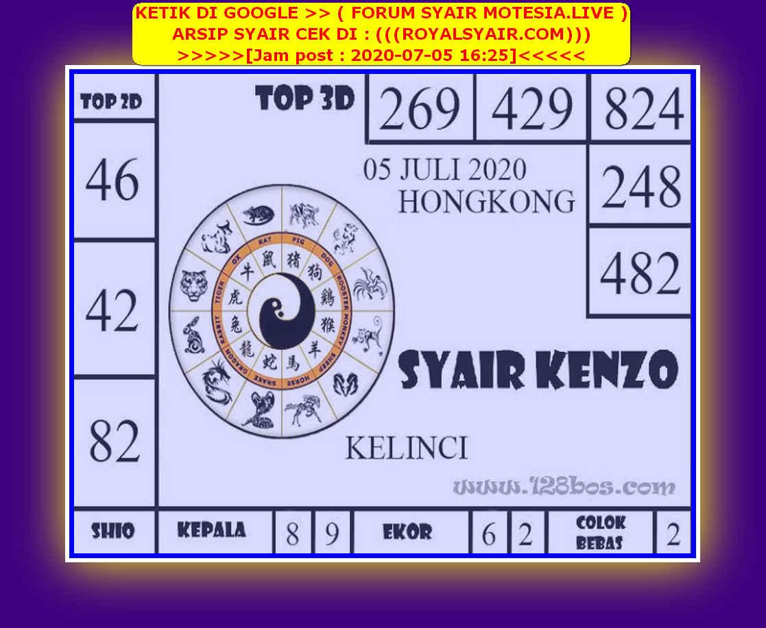 Kode syair Hongkong Minggu 5 Juli 2020 193