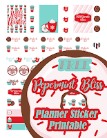 peppermint bliss free planner sticker printable christmas