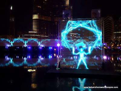 The Dubai Fountain Light 1