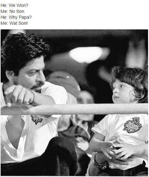 Shahrukh and Abram conversation after KKR lost to RR on 16th May 2015 in IPL 8