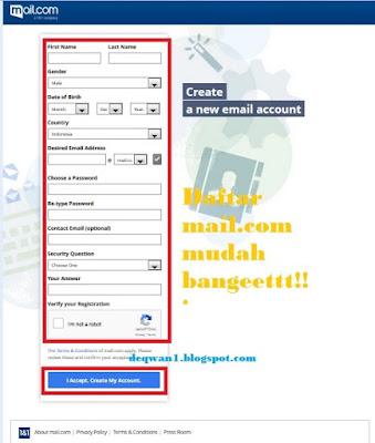 cara pendaftaran email di mail com