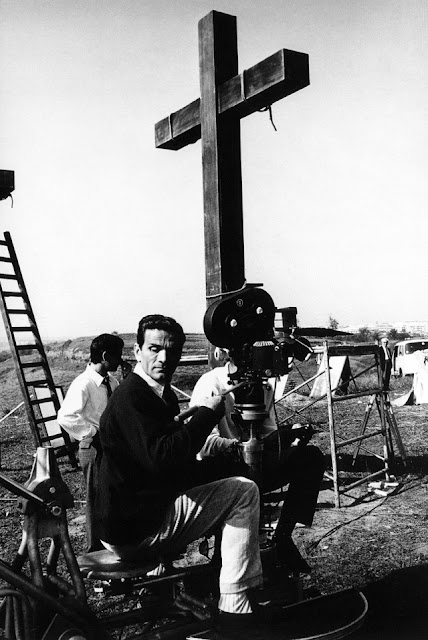 Pier Paolo Pasolini, on the sets of The Gospel According to St. Matthew