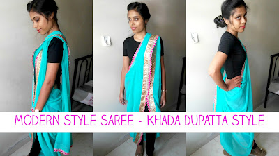 how to wear saree in modern style, modern style saree draping, how to wear modern saree, modern saree draping, how to wear saree