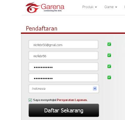 RIALSOFT.com - Cara Mendaftar Baru Point Blank Garena Indonesia