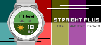 Straight Plus watch face for Pebble Time Round