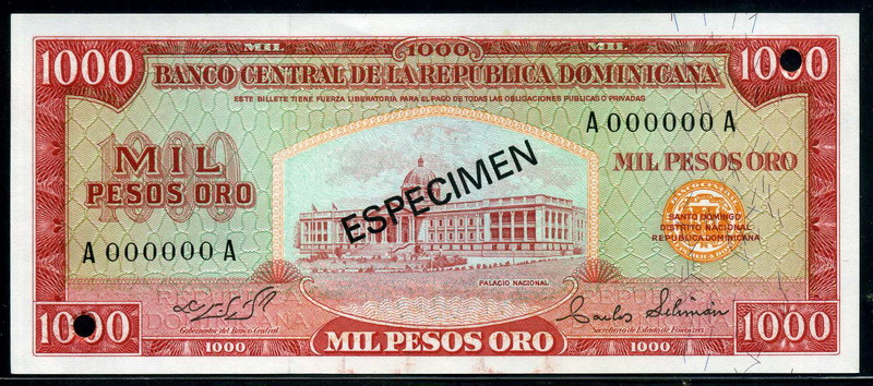 Dominican Currency 1000 Pesos Oro Banknote 1975 Issue World Banknotes Amp Coins Pictures Old