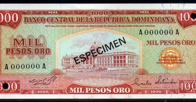 Dominican Currency 1000 Pesos Oro Banknote 1975 World Banknotes Amp Coins Pictures