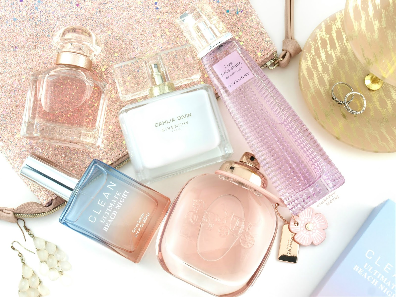 Spring & Summer 2018 Fragrance Reviews: Mon Guerlain Florale, Givenchy Dahlia Divin Eau Initiale, Givenchy Live Irresistible Blossom Crush, Clean Ultimate Beach Night,  Coach Floral Eau de Parfum