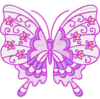 Imágenes Bordadas de Mariposas.