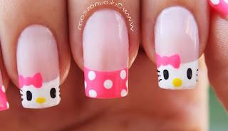 Gambar Nail Art Hello Kitty yang Cantik 5