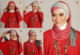 panduan memakai jilbab beserta gambar tutorial