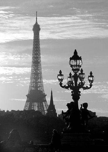 Everything Tower Around Tower And Eiffel White Black