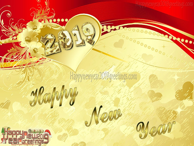 Happy New Year 2019 Golden Images Download For Desktop - New Year 2019 HD Golden Images Download Free