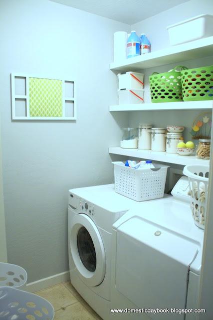Reorganizing Room: My Domestic Daybook: Tiny Laundry Room Reorganization