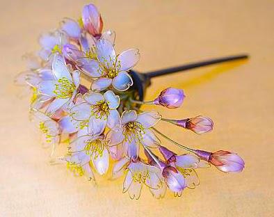 Kanzashi, de flores