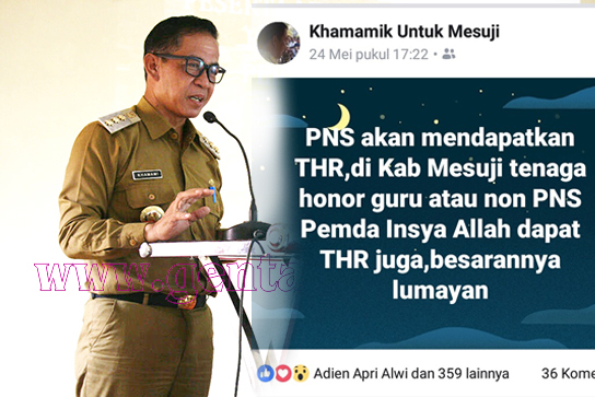 Berbahagialah Honorer Mesuji Karena Khamami Akan Kucurkan THR