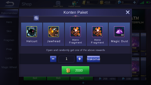 Tutorial Curang Membeli Hero Mobile Legends Dengan Modal 2000 Bp 2