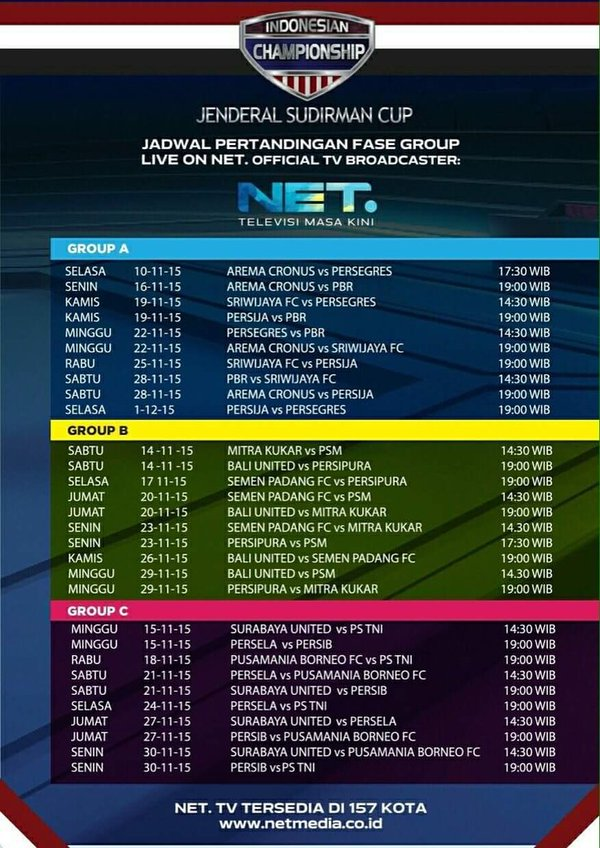 Download Jadwal Piala Jenderal Sudirman