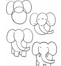 Desenho Elefante fácil
