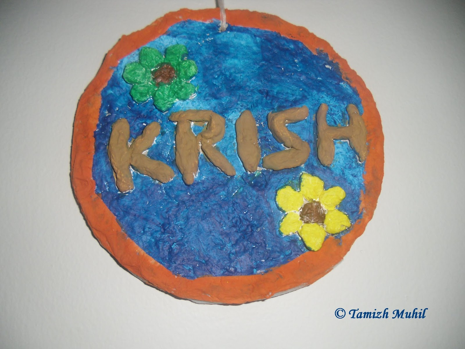 paper mache name board wall hanging