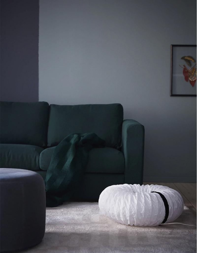 nuovo look alle lampade da terra in carta HOLMÖ di IKEA