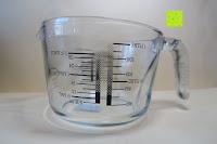 Erfahrungsbericht: Messbecher 1L Messkanne Rührschüssel Dosierhilfe Messkrug Glas Liter Pint