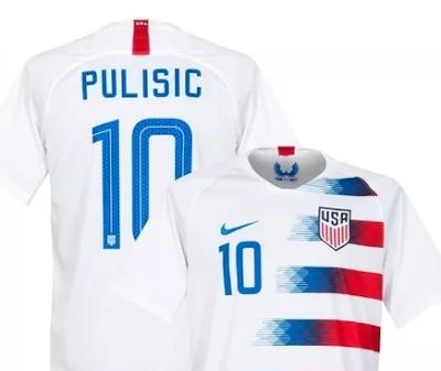 Camiseta oficial da seleção dos EUA