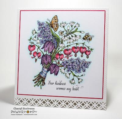 Power Poppy, Marcella Hawley, Spring Meadow Bouquet, Instant Garden Digital Image, CherylQuilts, Designed by Cheryl Scrivens, March 2016