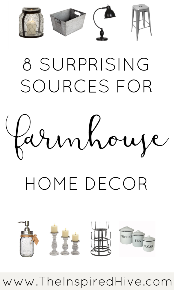 8 surprising online stores you might not have realized sell affordable farmhouse decor!
