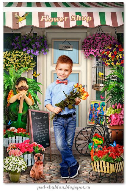 детский весенний шаблон