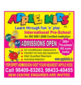 apple kids school  9840983263