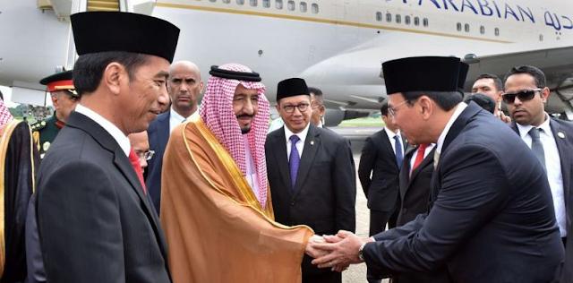 Meme Habib Rizieq Mencegat Ahok Saat Menyalami Raja Salman Menyebar