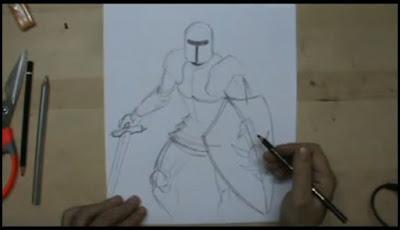 illustrazione cavaliere con armatura