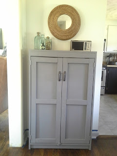 Eclectic modern farmhouse dining room diy rustic build cabinet grey