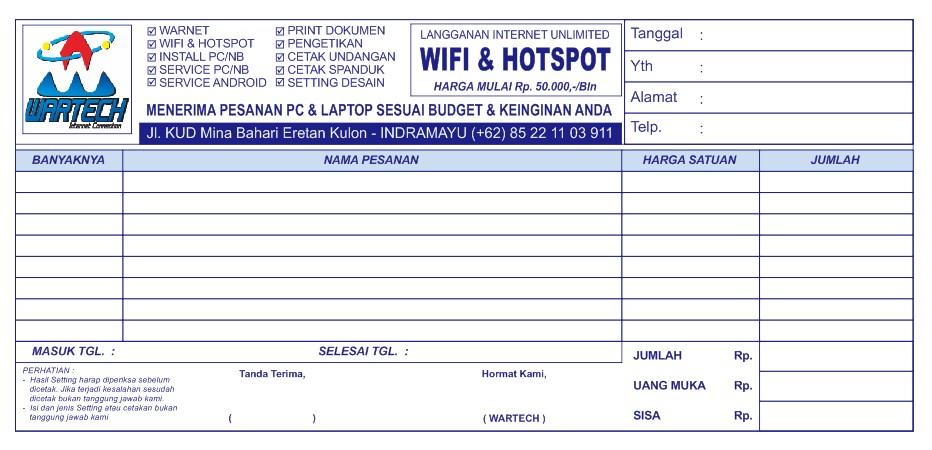 Cetak Nota Surat Jalan Dan Kwitansi Di Rawamangun Jakarta Timur