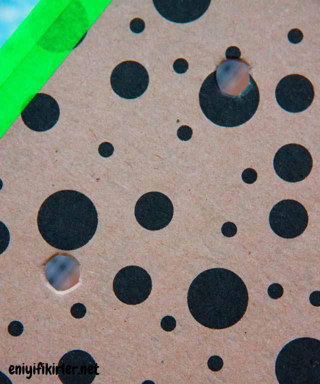 yuvarlak noktalı delikli kutu