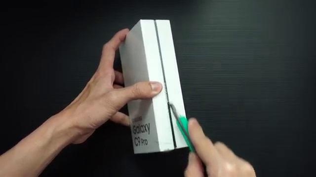 Buka kotak Samsung C9 Pro