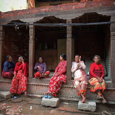 Señoras en Katmandú