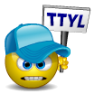 TTYL smiley