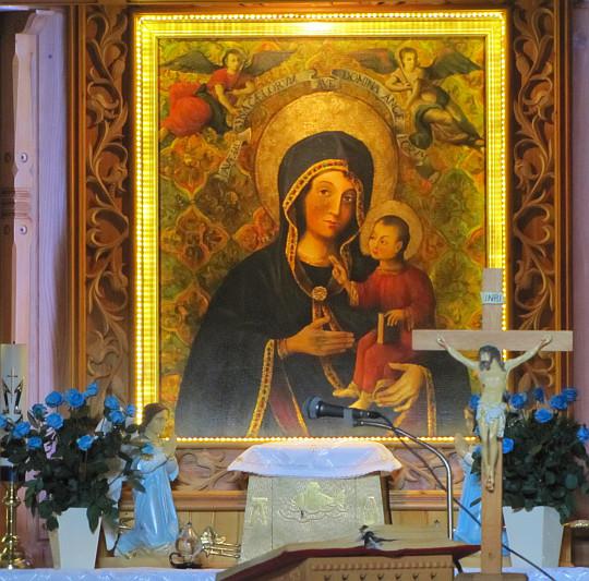 Kopia obrazu Matki Boskiej Gietrzwałdzkiej.