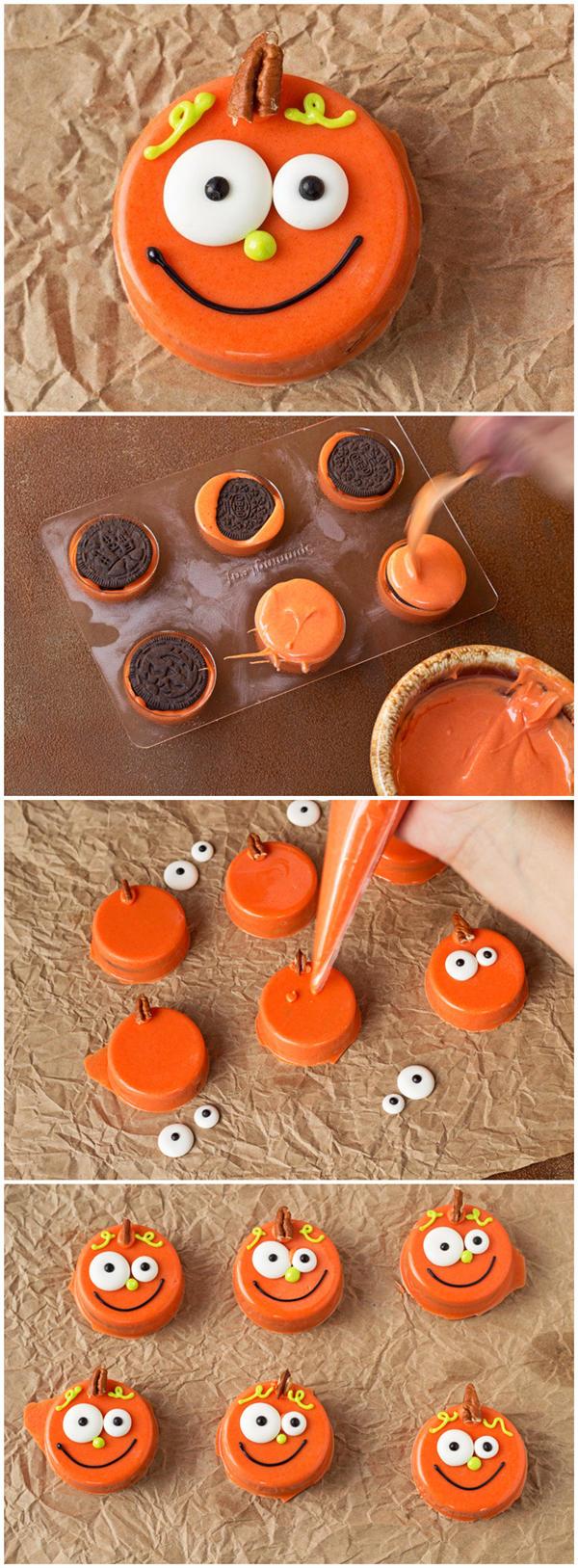 Chocolate Covered Pumpkin Oreo's