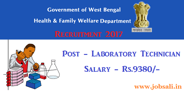 health and family welfare, medical jobs in west Bengal, 12th pass govt jobs