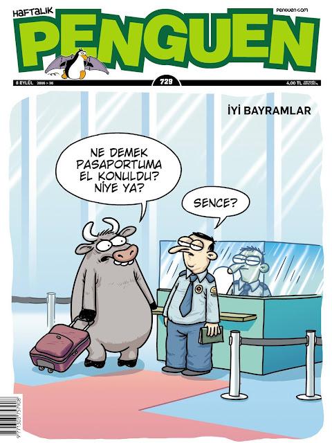 Penguen Dergisi - 8 Eylül 2016 Kapak Karikatürü