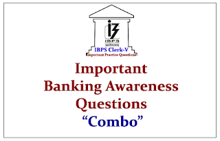 Important Banking Awareness Questions Combo for Upcoming IBPS Clerk Exam 2015