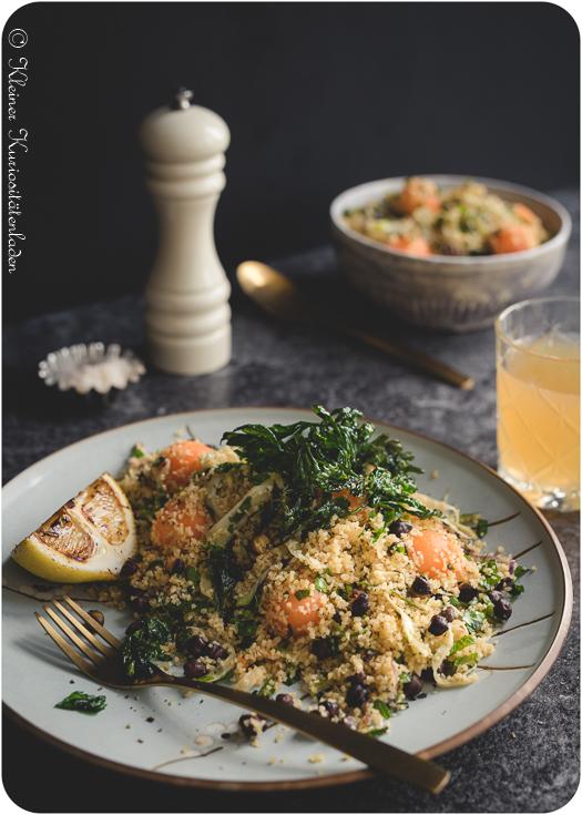 Taboulé mit Charentais-Melone und Fenchel