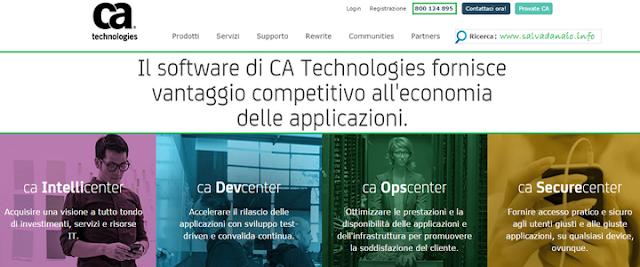 Lavorare con CA Technologies (PC) per vendita software e Marketing